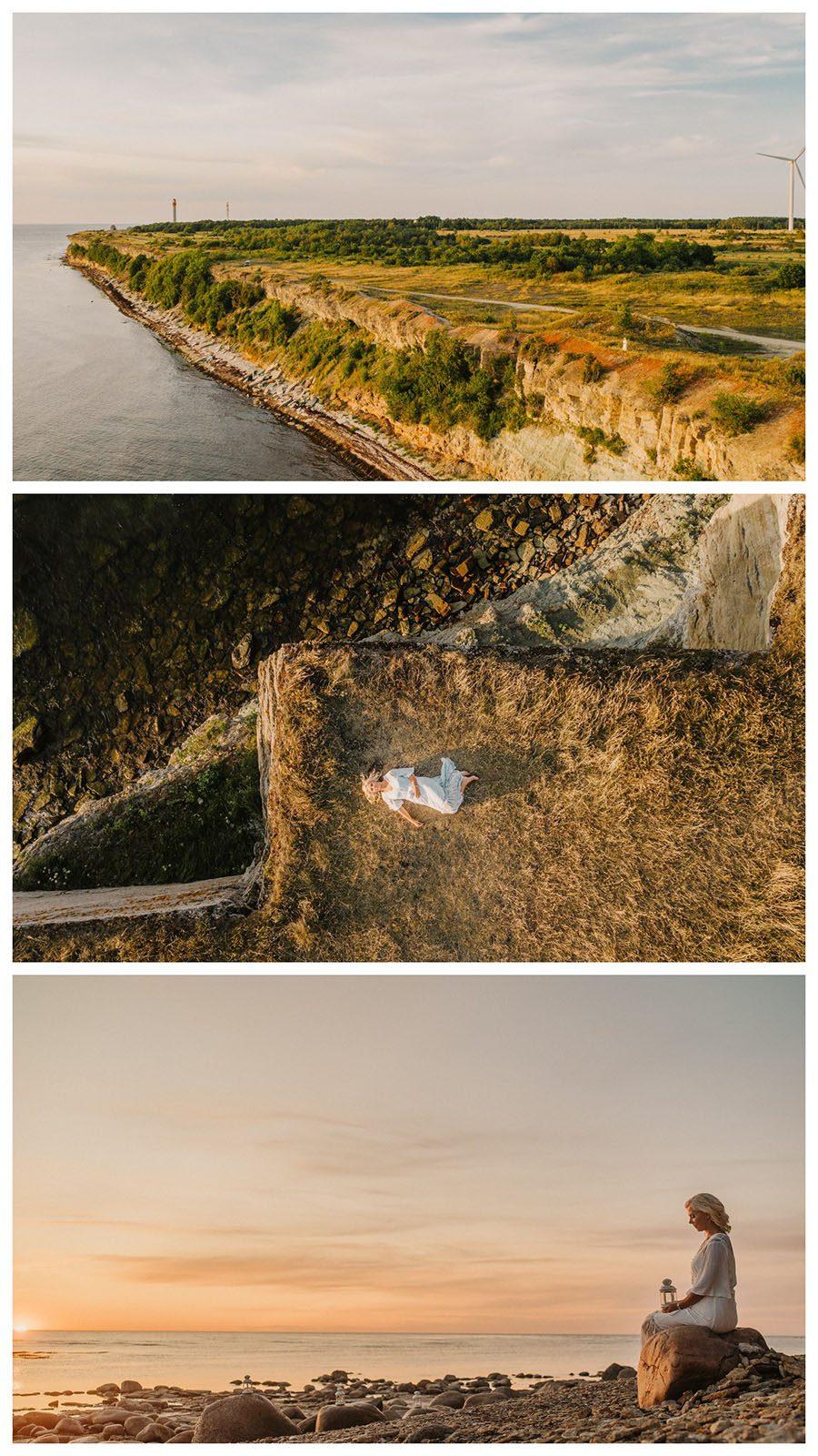 Portreefotograaf Pakri poolsaarel. Droonifotod